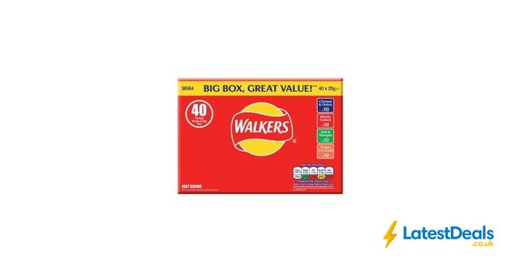 Online Exclusive Walkers Variety Crisps 40 Box 40x25g, £4 at Iceland