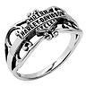 Harley Davidson Womens sterling silver ring..size 8