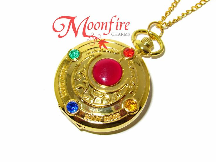 This Sailor Moon Crystal Transformation locket opens up to reveal a beautiful…