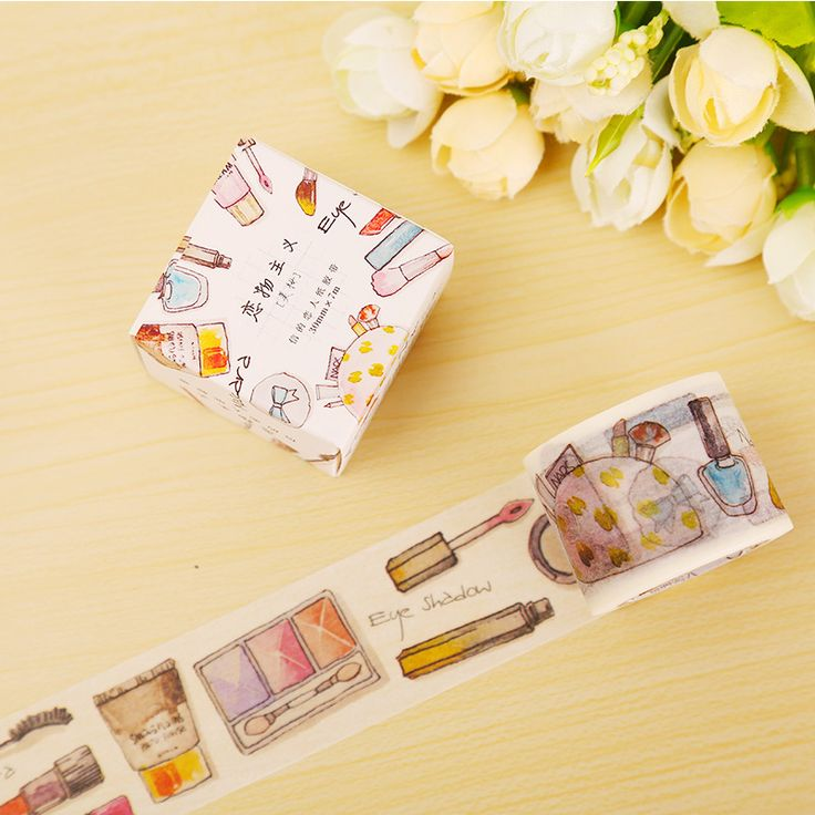3cm*7m Daily Makeup washi tape DIY decorative scrapbooking sticker planner masking adhesive tape label school supplies