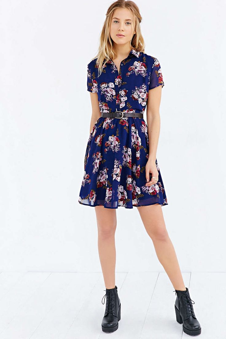 Lucca Couture Floral Shirt Dress