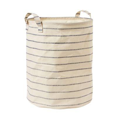 Tvättkorg Karl stripe, Ø50 cm, Creme - Heminredning - Hemtextil - Hemtex