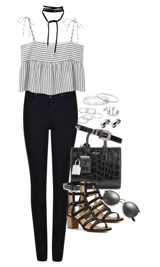 """""""Untitled #960"""" by manoella-f on Polyvore featuring Armani Jeans, MANGO, Yves Saint Laurent, Lucky Brand, Ray-Ban, Apt. 9, Cartier and Michael Kors"""