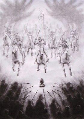 Spiritual warfare Art images: Intercessory Prayer, Worship