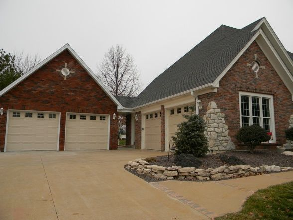 Detached garage with breezeway found on for Diy 3 car garage