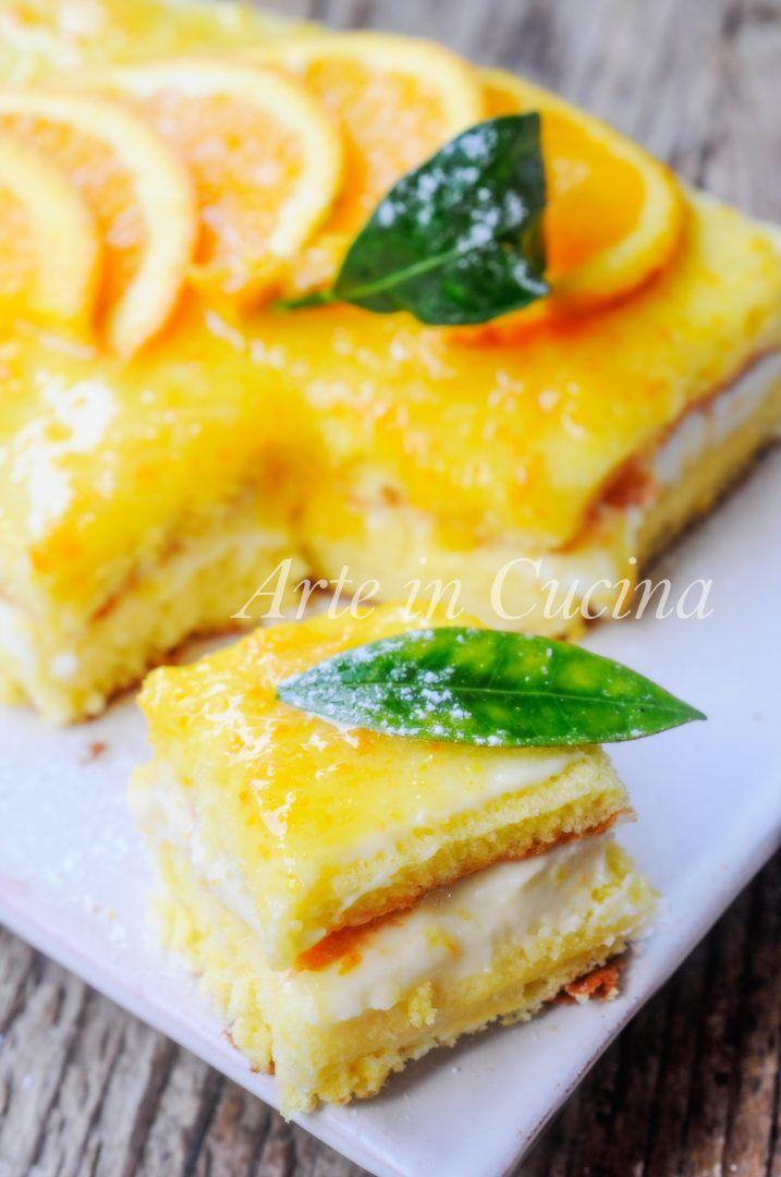 Torta veloce all'arancia con ricotta e mascarpone vickyart arte in cucina