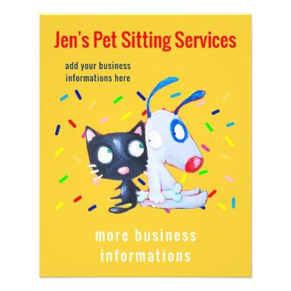 #Pet Sitting Services Flyer - #Petgifts #Pet #Gifts #giftideas #giftidea #petlovers