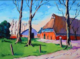 Arie Zuidersma (1925-2014) Arie Zuidersma is voornamelijk autodidact. Slechts 1 jaar bezocht hij de Academie Minerva te Groningen en hij wordt vooral geroemd om z'n kleurgebruik, de oude traditie van De Ploeg. Hij heeft zich in de loop der jaren ontwikkeld tot een erkend kunstenaar en een geliefd schilder