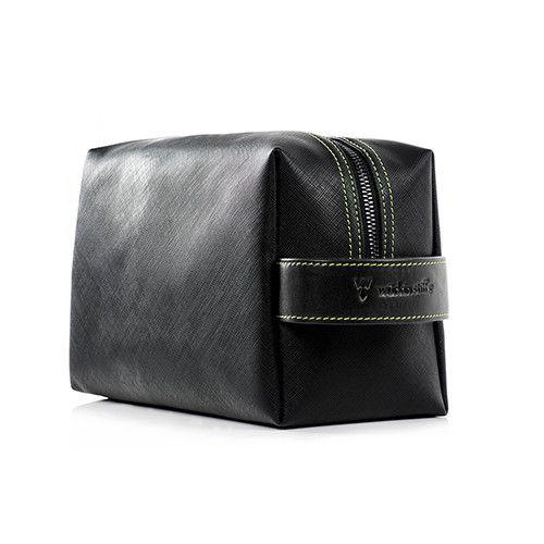 DOPPEL BAGS – LEATHER/CANVAS (BLACK)