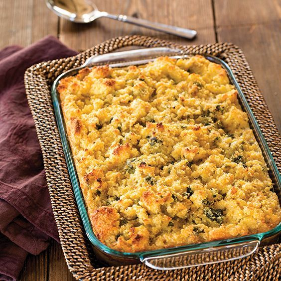 No Southern Thanksgiving table would be complete without this classic cornbread dressing.