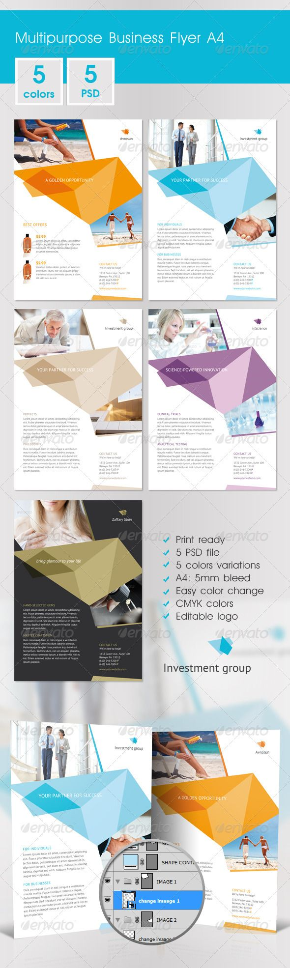 Multipurpose Business Flyer A4 - GraphicRiver Item for Sale