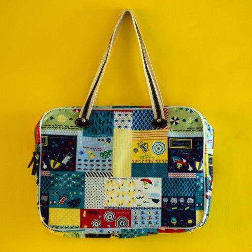 Pretty Patchwork Computer Bag #Colorize #ColorizeFashion