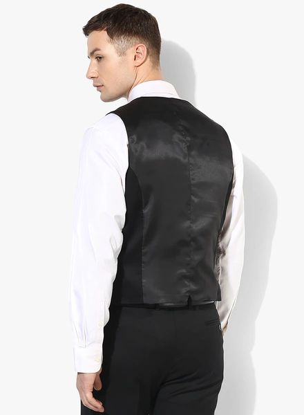 Buy Blackberrys Black Solid Waistcoat for Men Online India, Best Prices, Reviews | BL114MA85JJHINDFAS