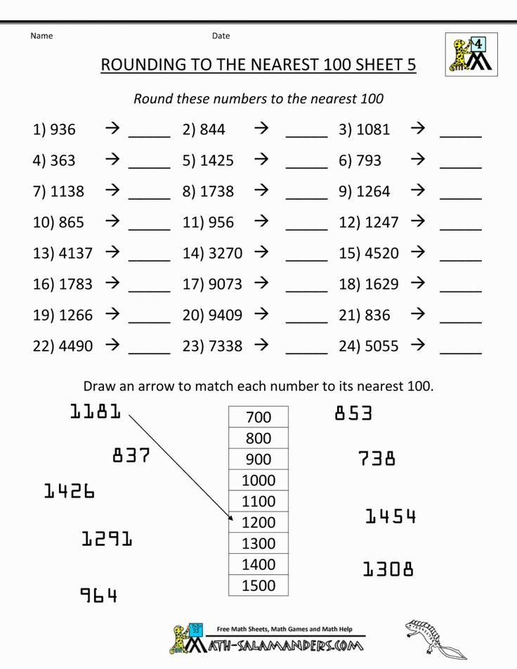 5 Free Math Worksheets Third Grade 3 Place Value and ...