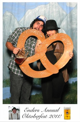 Oktoberfest photo booth idea for parties where no one wants to dress up, but they want to take pics for their Facebook status.