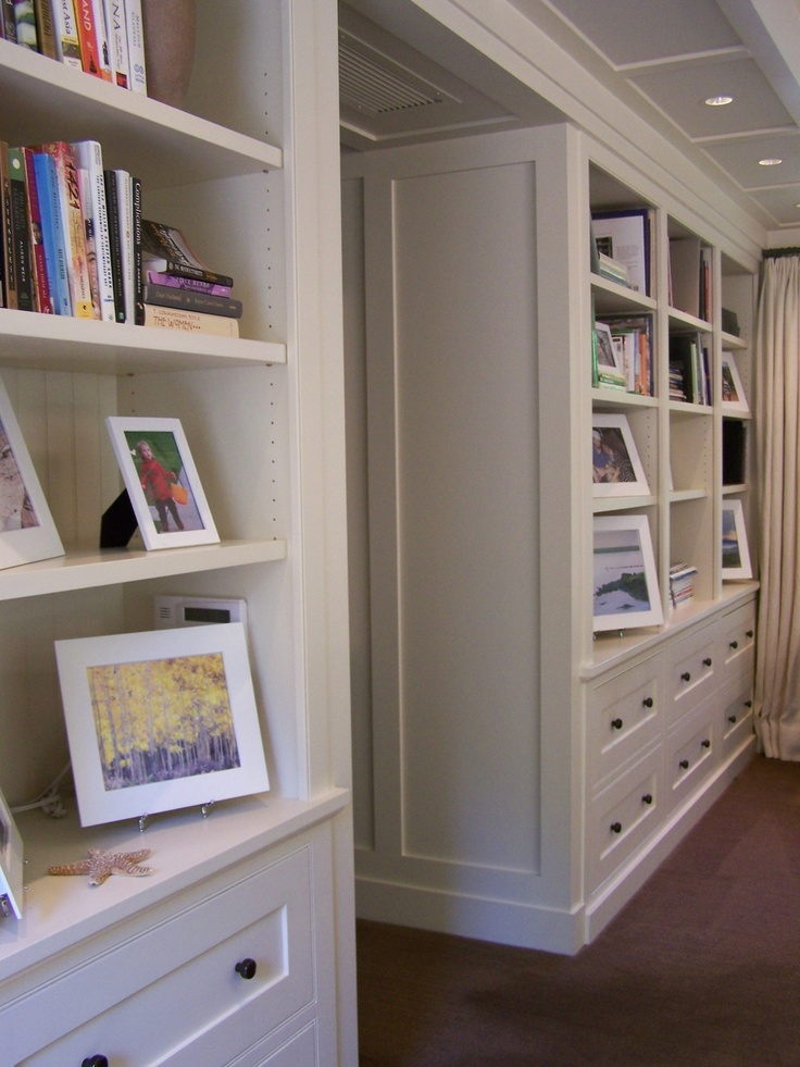 Arts and crafts style built in cabinets bookcases built for Built in cabinets