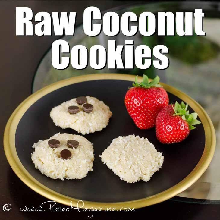 Raw Coconut Cookies Recipe [Paleo, Gluten-Free, Dairy-Free] #paleo #recipes #glutenfree   http://paleomagazine.com/raw-coconut-cookies-recipe-paleo-gf-dairyfree