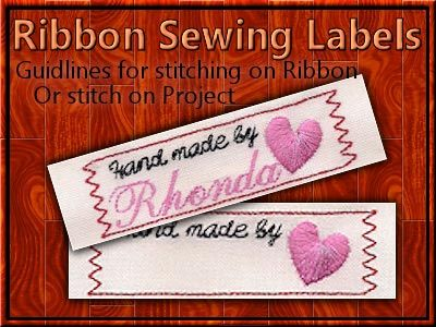Ribbon Sewing Labels Machine Embroidery Designs http://www.designsbysick.com/details/ribbonsewinglabels