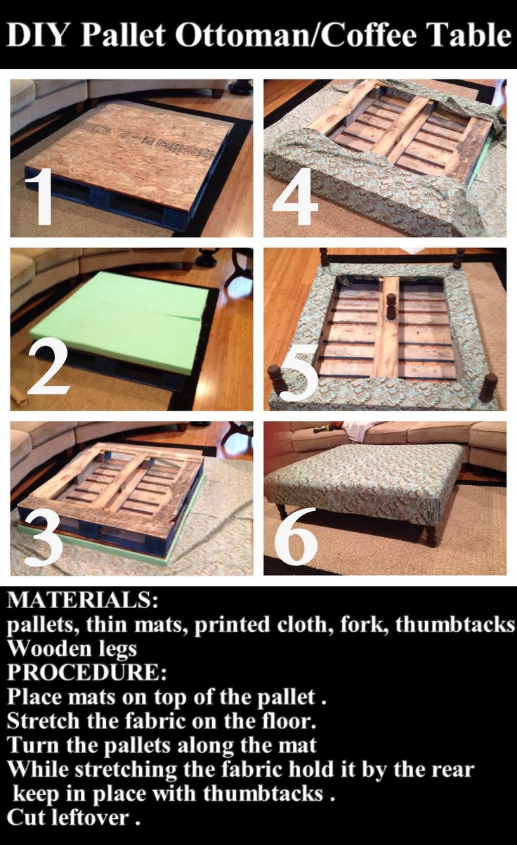 DIY Pallet Ottoman/Coffee Table Pictures, Photos, and Images for Facebook, Tumblr, Pinterest, and Twitter                                                                                                                                                                                 More