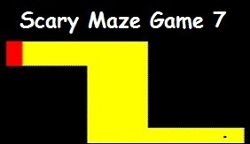 Very different and colorful #ScaryMazeGame. Scary Maze #Game 7 offers atypical game controls. You move the black dot with arrows. At first it looks quite easy, but in game process you realize it's much harder. Try to reach the end and get inside the red cube. Alike other scary mazes avoid touching walls, move gently and be careful. Creatures face and sound is awesome, best way to #Prank someone.