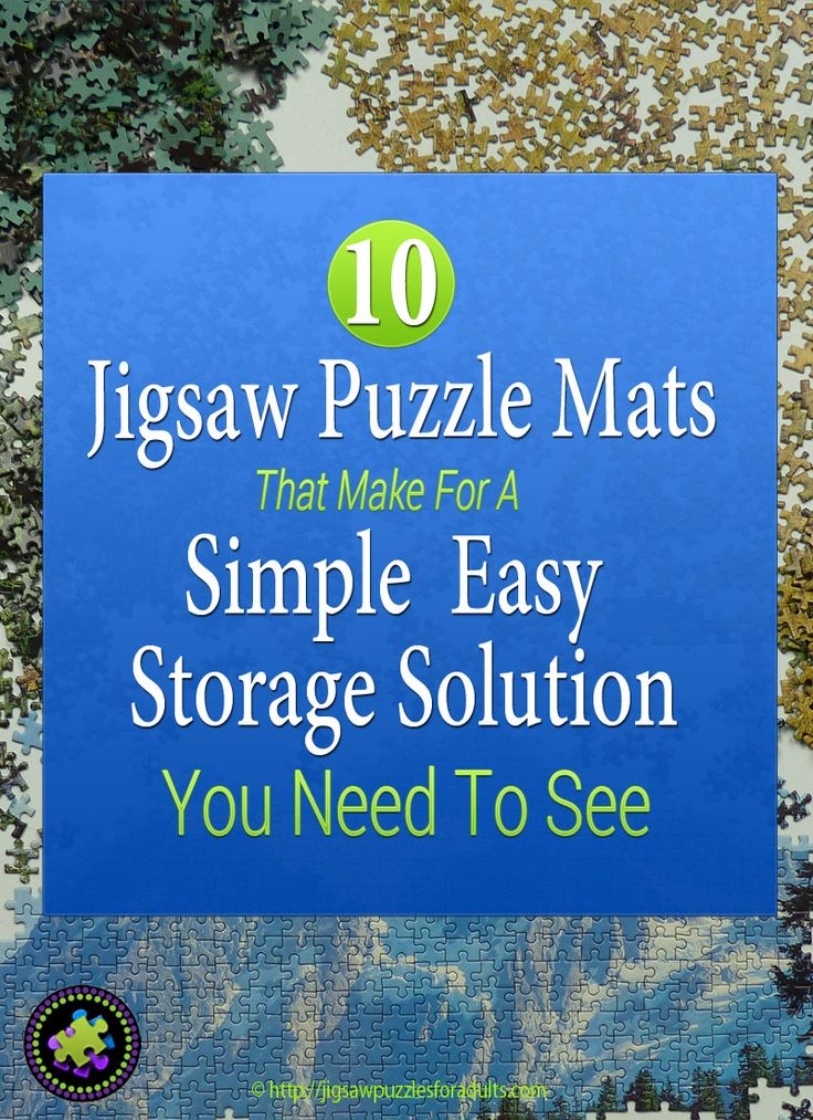 We love Jigsaw puzzle mats and find them one of the easiest and most inexpensive solutions for jigsaw puzzle storage. A jigsaw puzzle mat is an awesome accessory when it comes to storing and moving your jigsaw puzzle projects. Unlike boards and tables, they can be rolled up and tucked away for the next time you want to work on your jigsaw puzzle. Moving a 1000-2000 piece jigsaw puzzle project is easy with one of these jigsaw puzzle mats.