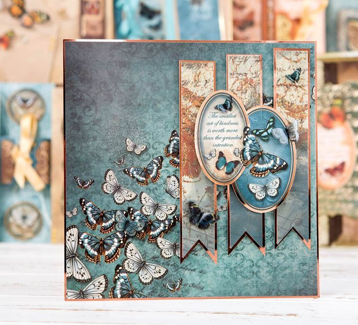 Gorgeous card made using the @hunkydorycrafts Flight of the Butterflies Collection. Shop now by clicking 'Visit Site' above.
