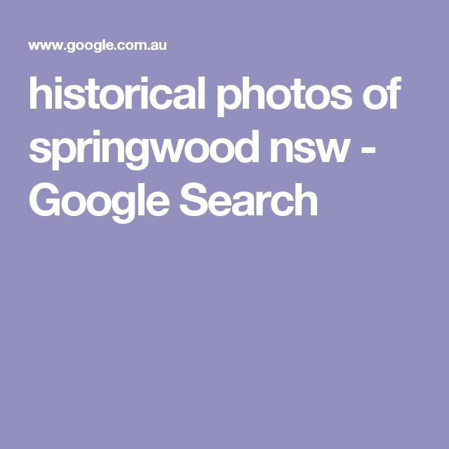 historical photos of springwood nsw - Google Search