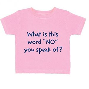 Baby Girl's What Is This Word No You Speak Of Toddler T-Shirt - Pink