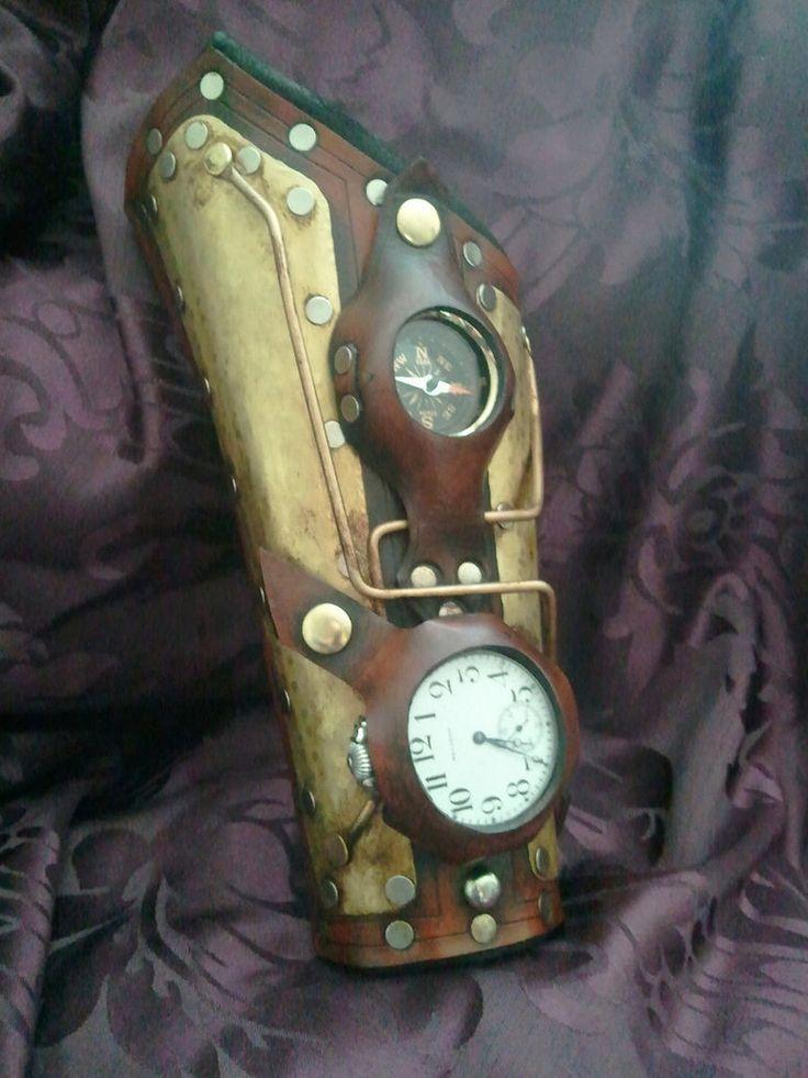 Steampunk Time travelers Bracer by *Skinz-N-Hydez