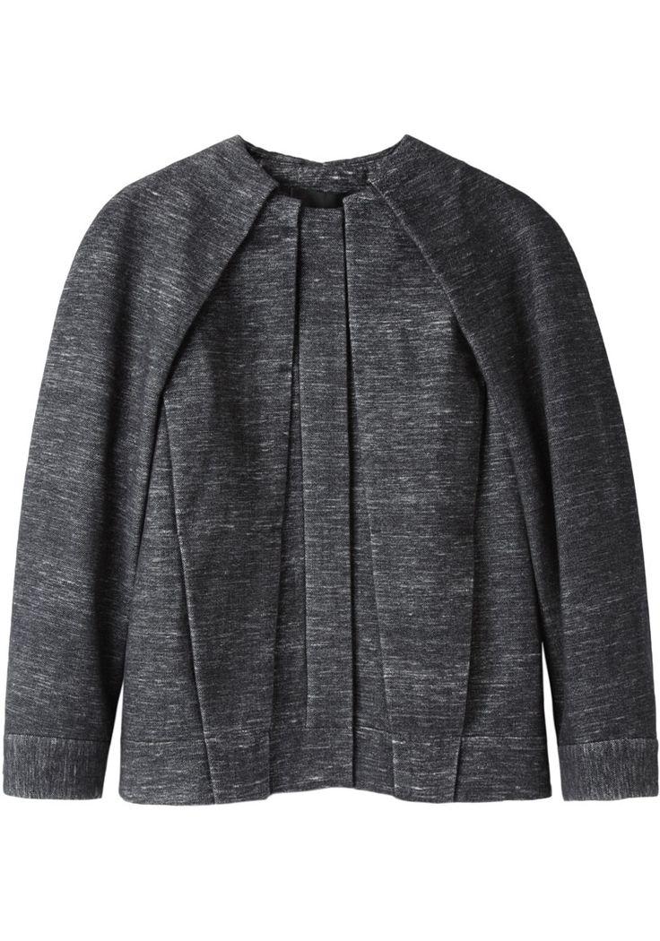 Alexander Wang / Pleated Jean Jacket | La Garçonne plissé gris chiné