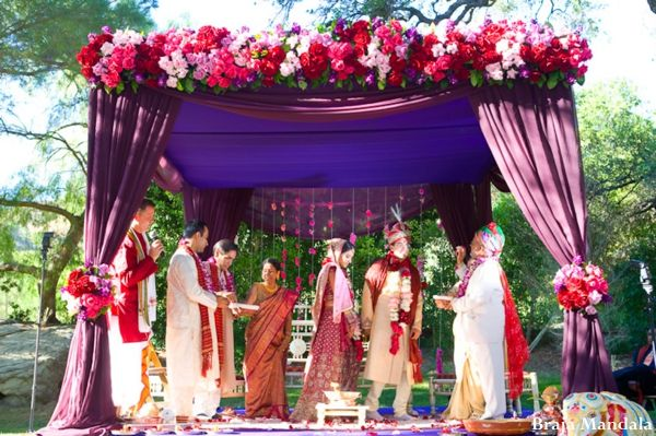 indian-wedding-mandap-outdoor-ceremony-colorful http://maharaniweddings.com/gallery/photo/2016