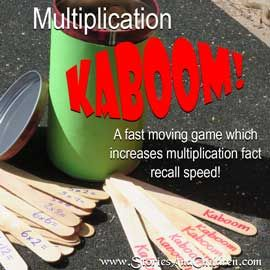 Multiplication Kaboom is a fast moving game that promotes speedy recall of multiplication facts. Quick, inexpensive & easy to make. Heaps of fun to play!