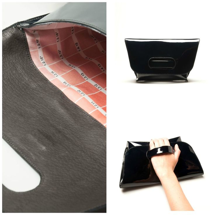 #Leather #clutch with handle. Magnet lock. Textile lining. #MadeinItaly.