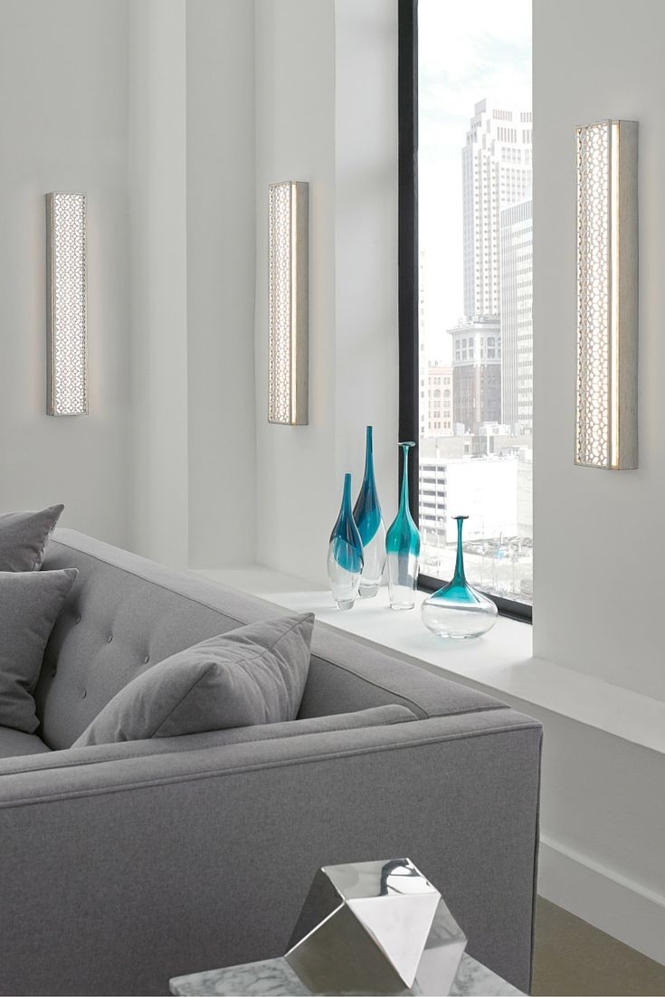 Kenney LED Wall Light in Sunrise Silver