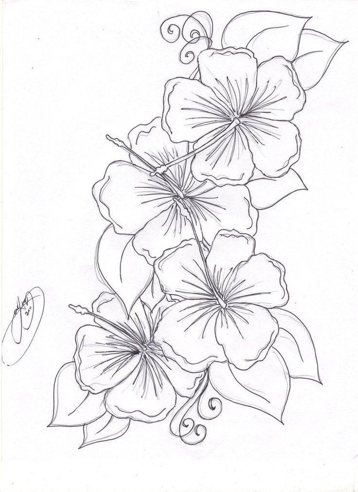 Hummingbird Hibiscus Tattoo Drawing The Hibiscus Flowers Tattoo Pictures To Pi Drawing Hibiscus Tattoo Tropical Flower Tattoos Hibiscus Flower Tattoos