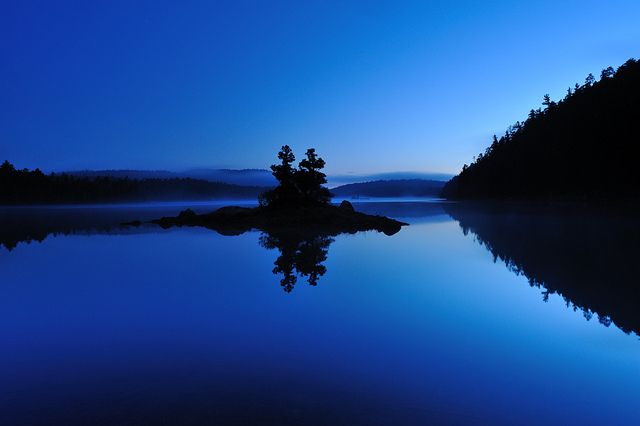 Blue Hour, Sylvester Lake by Peter Bowers...just paddled this lake!