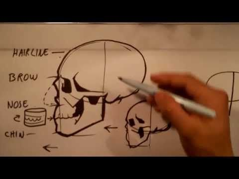 How to Draw Skull Drawings - Easy Pictures to Draw