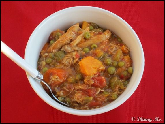 Skinny slow cooker Turkey Stew, Texas Style -