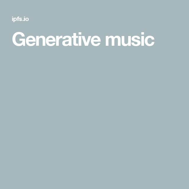 Best 25+ Generative music ideas on Pinterest Nmc code, Brand - k chenm bel f r kleine k chen