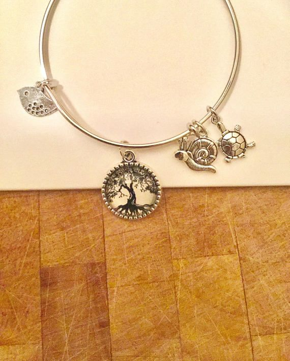 Handmade Artisan Tree Of Life Expandable Bracelet
