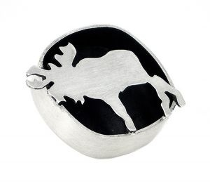 Moose lapel pin in sterling silver - $176
