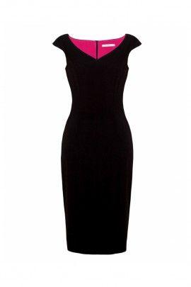 Sukienka z dekoltem w serce czarna