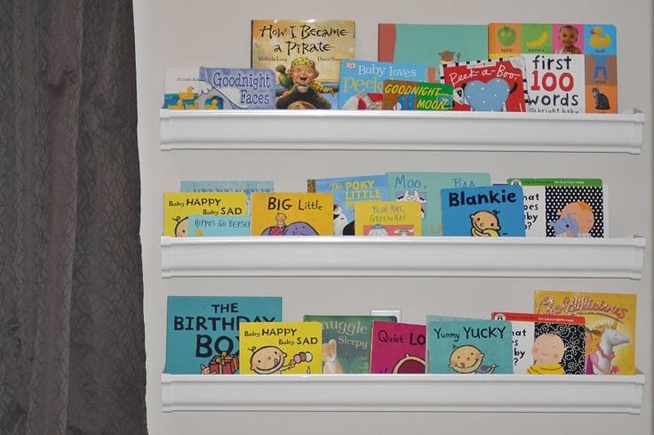 Gutter bookshelves!Gutter Bookshelves