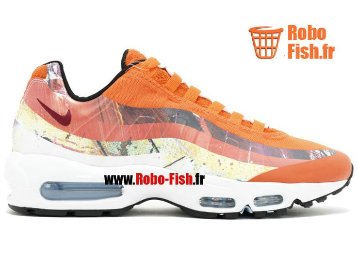 """Nike Air Max 95/Dw """"Dave White"""" - Chaussure Nike Running Pas Cher Pour Homme Cayenne Team Maroon-Ntrl Jeu 872640-600"""