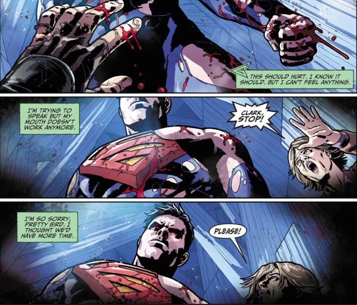 Superman kills Green Arrow (Injustice - DC Comics)