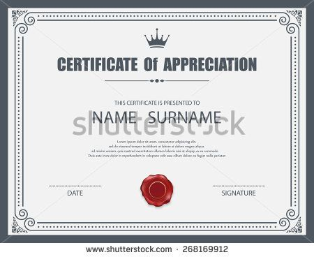 14 best Certificate design images on Pinterest Certificate - certificate borders templates