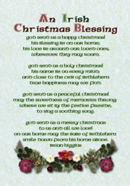 irish christmas | Irish Christmas Blessings, Greetings and Poems
