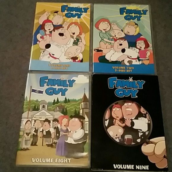 4 seasons of Family Guy! 4 seasons of Family Guy! (Seasons 1, 2, 8, and 9) will sell separately for $12/season Other