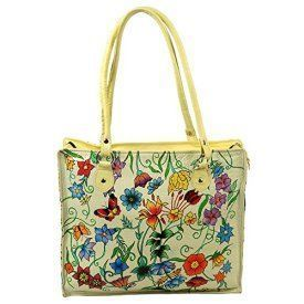 Zint Women's Hand Painted Genuine Leather Shoulder Bag  Trendy, Cute and Luxurious Hand Painted Leather Purses      Hand painted leather purses are truly eye-catching, unique and cool.  In fact they are currently trending like crazy!  Obviously when you combine beautiful hand painted art, on fine quality leather the result is a timeless and charming creation just for you.