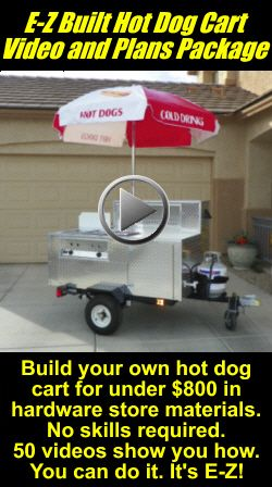 E-Z Built Hot Dog Cart Videos and Plans